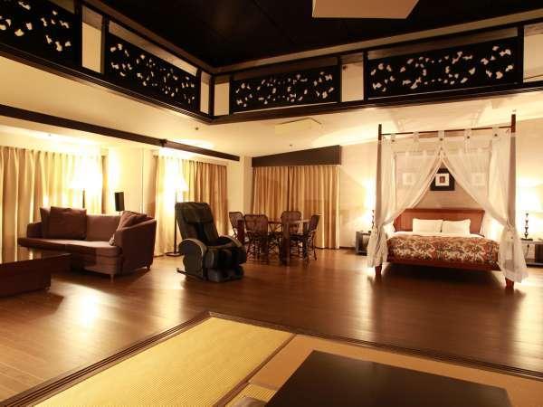 ★『アジアンスイート』お部屋は120平米以上7名様定員。最上階のみ。