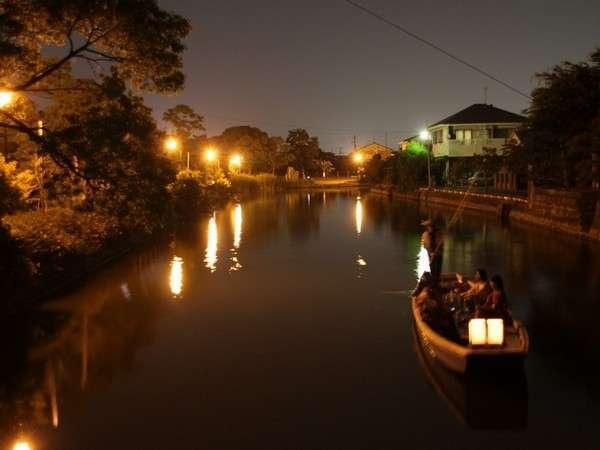 【季節限定】柳川・夏の風物詩 〜 風情と情緒あふれる、灯り舟体験 〜