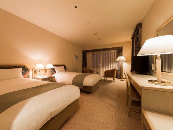 洋室タイプはデュベスタイルを採用し、清潔で快適な眠りをご提供させていただきます.