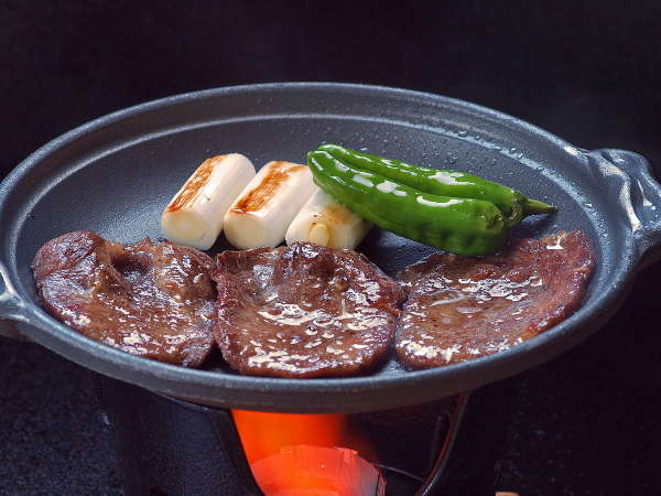 【牛たんの陶板焼付き】スタンダード宿泊プラン懐石料理コースにお料理一品追加!