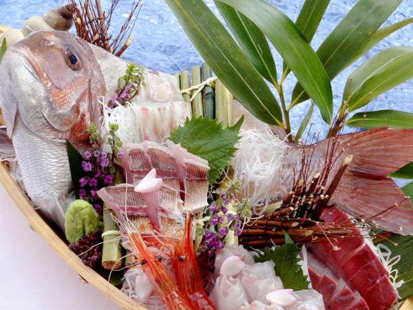 新鮮魚介の宝庫!能登に来たなら「地物舟盛り」☆特典付【1泊2食付】