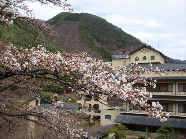 川浦温泉山県館の外観