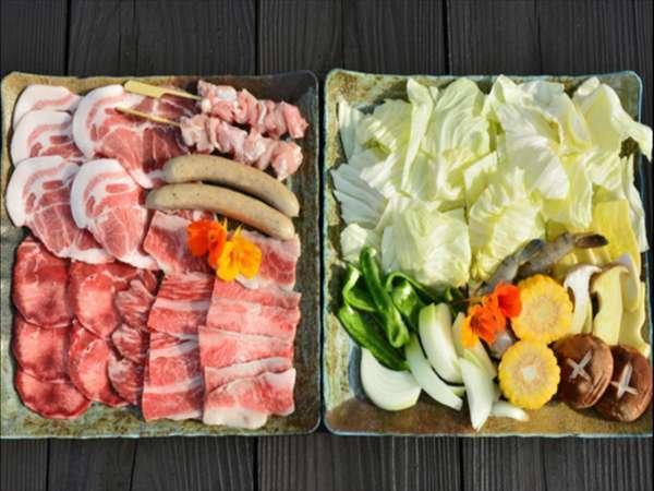 【BBQ食材付き】〜やんばるのお肉ご堪能プラン〜【朝食付】
