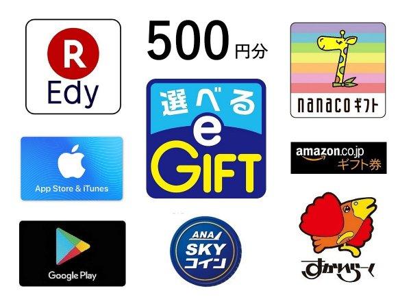 マルチギフトカード付 選べるe-GIFT 500円分 素泊まり