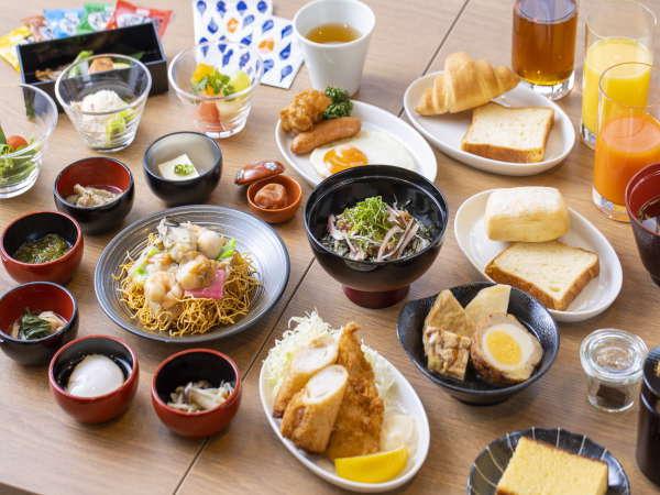 【朝食】◆ご当地の和・洋・中の様々な料理45種◆ ※一例