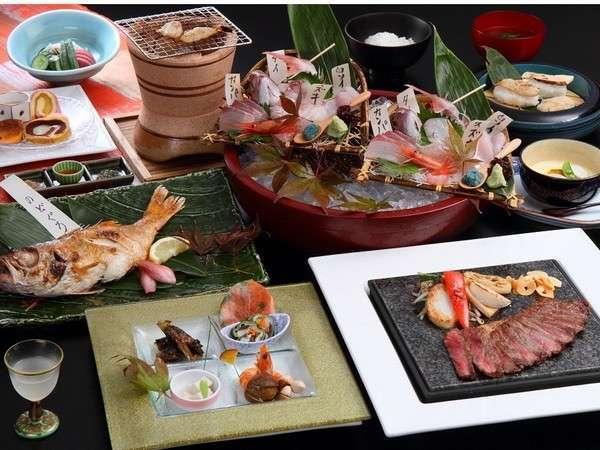 【至福】 『10個の丸ごとおもてなし』 のどぐろ1尾+極上牛+地魚盛り合せ+加賀野菜♪