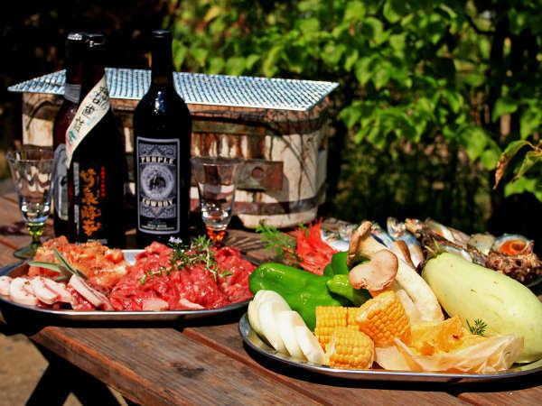 新鮮な自家栽培野菜と肉・魚をグリルで美味しくジューシーに♪