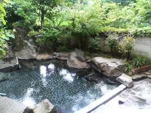 由布岳が正面に望める絶景露天風呂