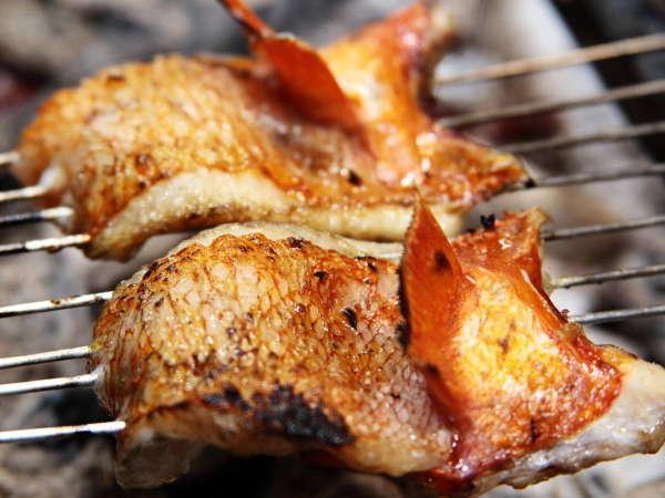 【夕食は割烹×炭火焼コース】厳選食材をその場で調理!「2食付炭火焼割烹料理プラン」