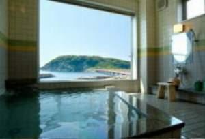雄島を展望しながら湯ったり気分