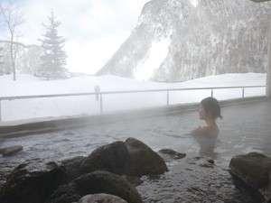 【天華の湯】冬には雪見の露天風呂