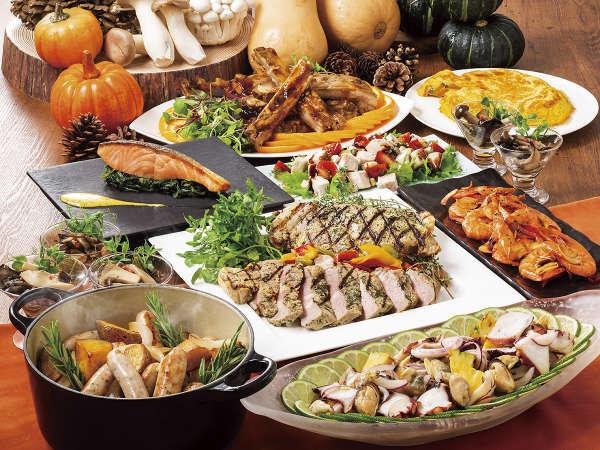各国の多彩なメニューをブッフェスタイルで♪ディナーブッフェ&朝食付プラン