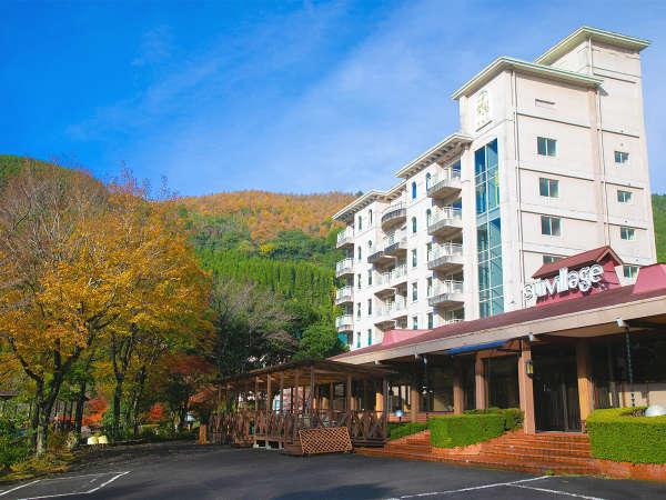 高台に建つ当館はお部屋からも温泉からも【四季折々の風景】をお楽しみいただけます