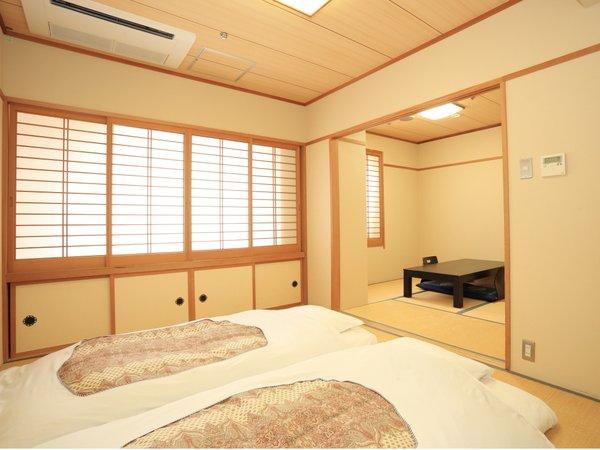 ◆和室(2間)4.5畳+6畳◆布団サイズ「幅95㎝×縦195㎝」