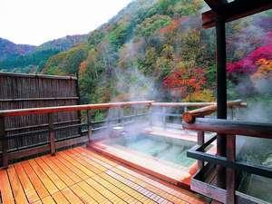 秋田の紅葉スポット近くの温泉宿・紅葉露天のある宿県 湯瀬ホテル