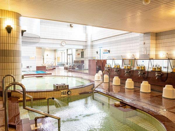 【大浴場】多彩な湯船を湯巡りで楽しめるアラピアの大浴場♪身体の芯から温まって今日も一日健康で!