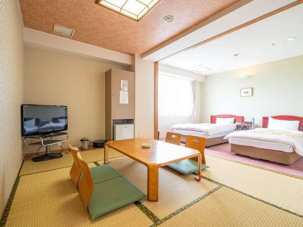 【和洋室】最大5名様までお泊まり可能なファミリールーム(和室とシングルベッド2台)