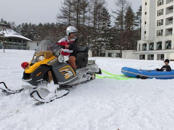 冬季限定で「スノーラフティング」が登場!!