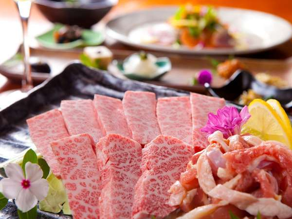 【豊後牛&地鶏】炭火焼で贅沢に味わう