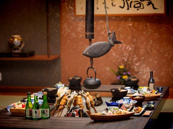 【当館人気NO,1プラン】旬の味覚を囲炉裏端で 「祖谷味覚プラン」