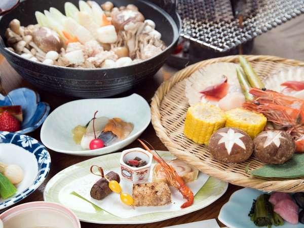 【 竹コース/囲炉裏 】いろりを囲めばおしゃべりもはずむ、炭火焼スタンダードプラン