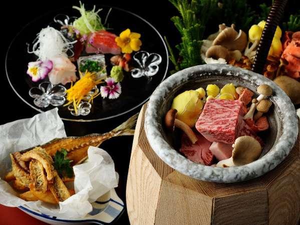 ◇秋の特別会席◇牛と松茸の壺蒸し焼き会席