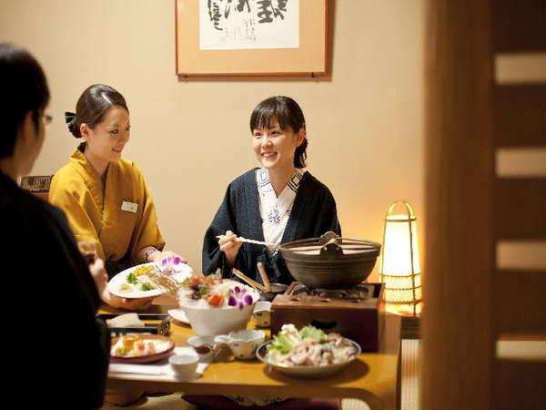 寒い冬に温かいお食事と温かいおもてなしをご提供いたします。