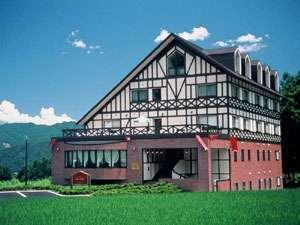 白馬 山のホテルの外観