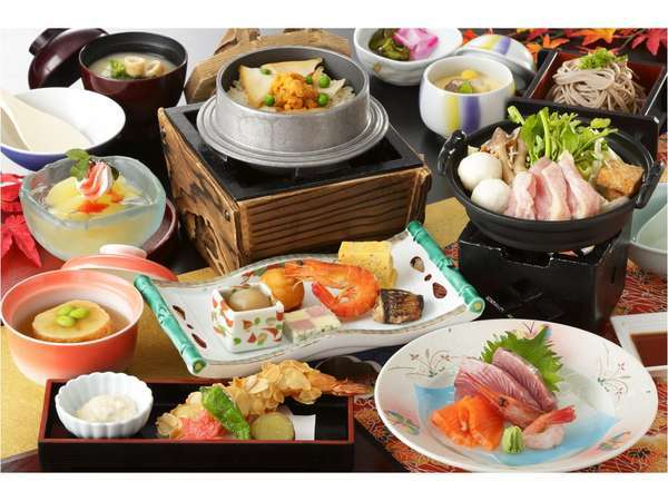 【じゃらん限定】福島の地酒 飲み比べセット付♪ <夕食和食膳&朝食&入場券付|お部屋お任せ