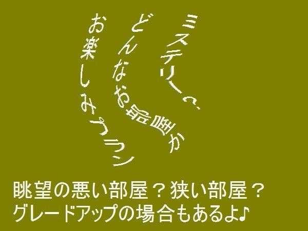 【ミステリー?】訳ありプラン!