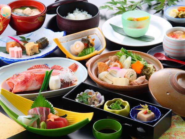 【夕食一例】有明海の恵み【原城プラン】。新鮮な海の幸お召し上がりください!