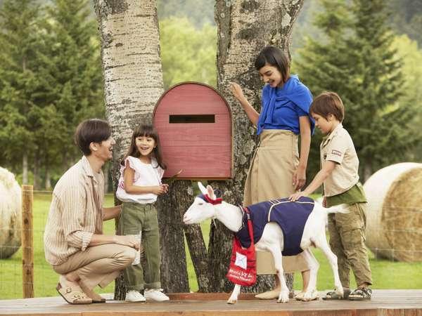 お手紙をヤギに食べられないように、ポストに入れるドキドキ感が味わえる「ヤギの郵便屋さん」
