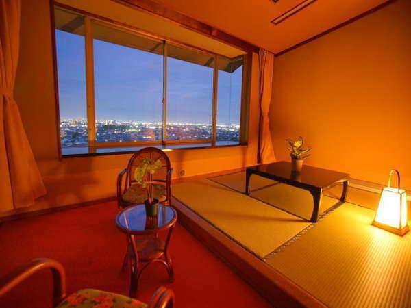 「【夜景までも独占!】贅沢な夜景を独り占めで出来る眺望指定のお部屋