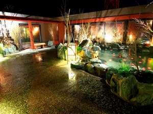 ◆夜の露天風呂(夜景は絶景です)