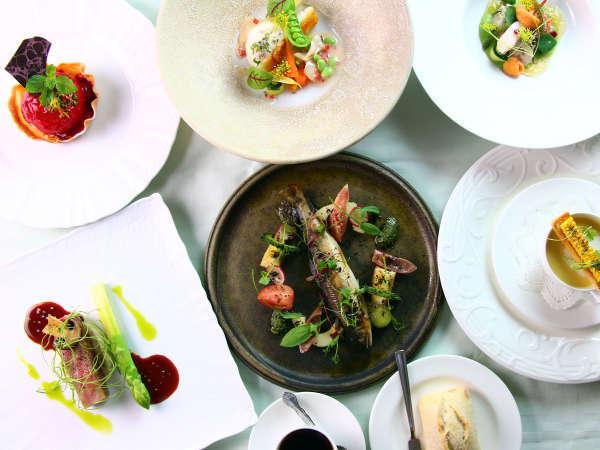 【ディナー一例】季節の食材を活かしたア・マ・ファソン自慢のディナーコース
