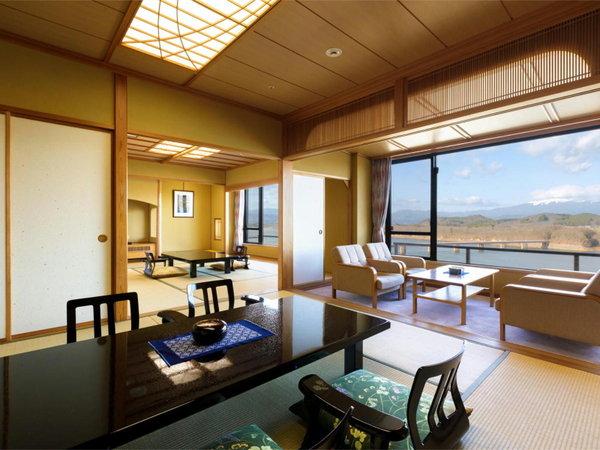 最上階12階特別室【亀楽】和洋室・バストイレ付(ウォシュレット付)