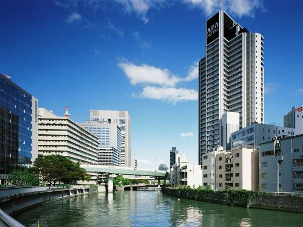 アパホテル<大阪肥後橋駅前>の外観