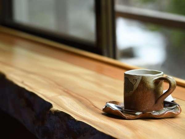 【ロビー】大自然の中でほっと一息。ロビーにてコーヒーも販売しております。