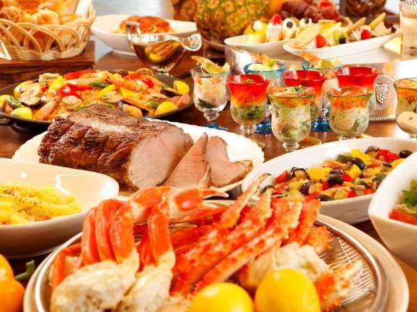 ★【夕食付】4店舗からのセレクトディナー☆和洋中バイキング・最上階イタリアン・鉄板焼コースディナー♪