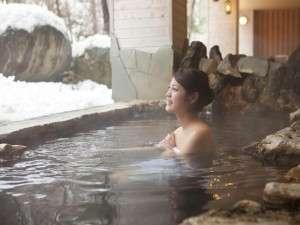 【大自然の湯「川の囁き」】雪見を楽しみながらリラックス