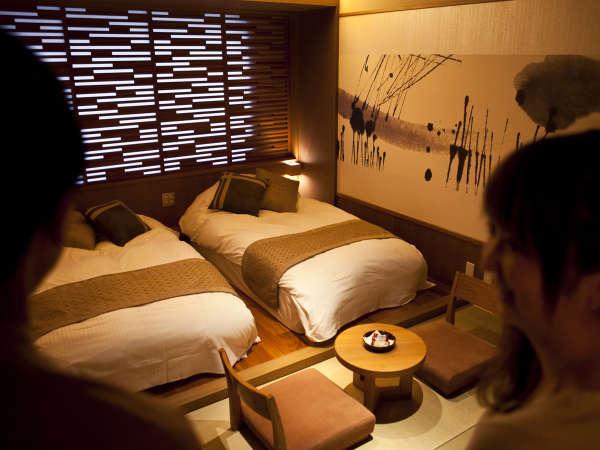 【和モダン】畳にローベッドを配したカップルに人気の客室☆