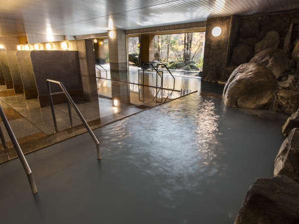 【大自然の湯「川の囁き」】内風呂でも大自然を眺めながら入浴できます