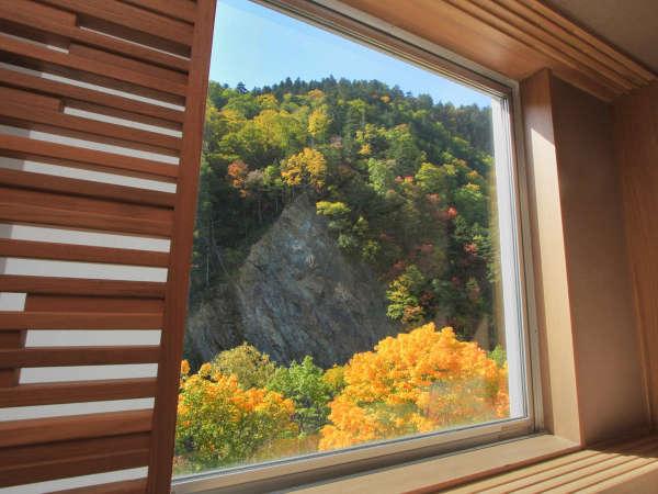 【和モダン】お部屋からは層雲峡の山々や紅葉を望めます