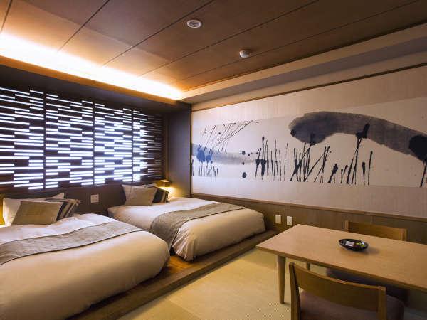 【和モダン】畳にローベッドを配し、カップルやご夫婦に人気のお部屋です