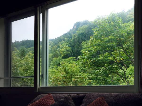 【洋モダン】お部屋から層雲峡の大自然を一望できます