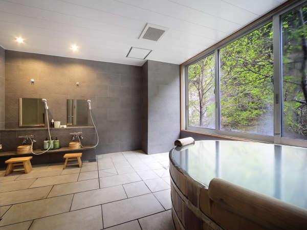 【貸切風呂 こまくさ】自然を眺めながらのんびり寛げます