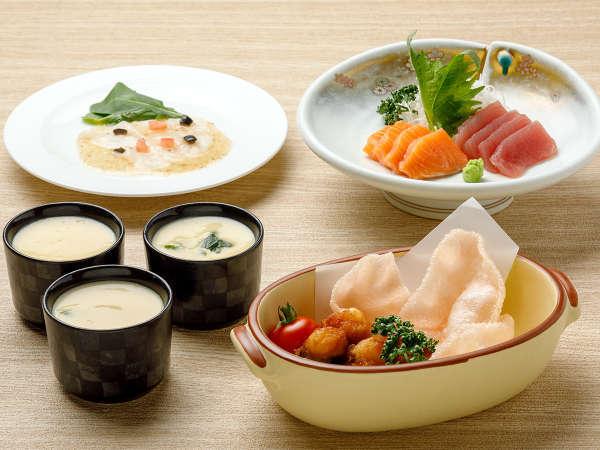 【KURODAKE】<山の宿でも「海鮮グルメ」を食べたいっ!>海鮮茶碗蒸し、タコザンギ&えびせんべいなど