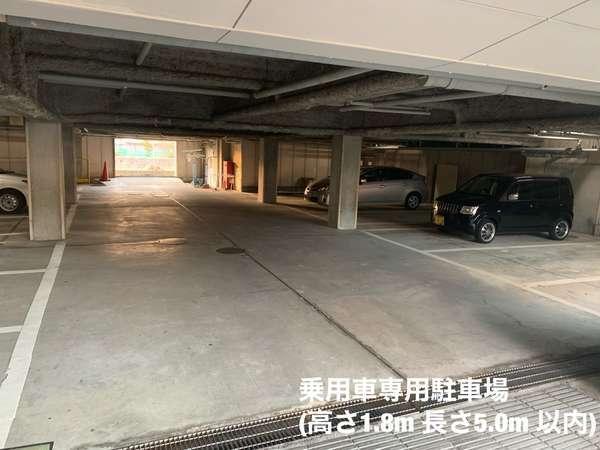 乗用車専用駐車場(高さ1.8m長さ5.0m以内)