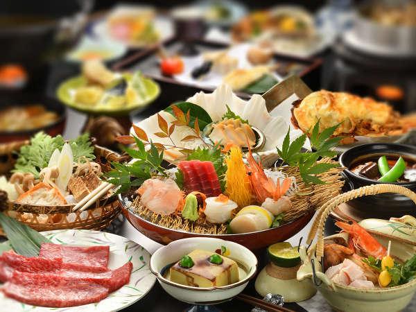 【岩手贅沢会席】海の幸も山の幸も、郷土料理もわがままに楽しめる当館自慢の会席