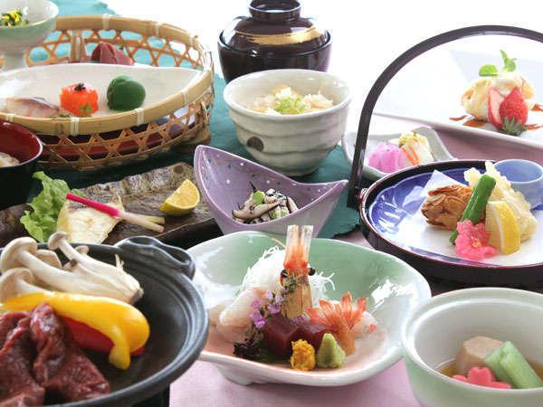 季節毎に変わる和食会席膳の一例